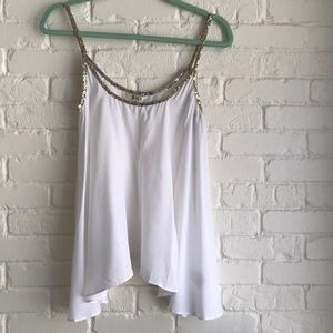 BB Dakota Summer white tank with sequence NWT S